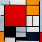 Живопись | Пит Мондриан | Композиция с большой красной плоскостью, желтым, черным, серым и синим, 1921
