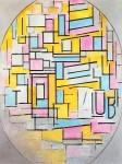 Живопись | Пит Мондриан | Композиция с овальными и цветными плоскостями II, 1914