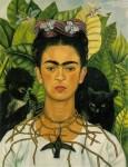 Живопись| Фрида Кало | Автопортрет с терновым ожерельем, 1940