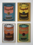 Живопись | Энди Уорхол | 4 colored Campbells Soup Cans