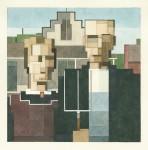 Живопись | Adam Lister | American Gothic (Грант Вуд)