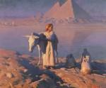 Живопись | Adam Styka | On the Banks of the Nile