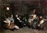 Живопись | Макс Либерман | Женщины, ощипывающие гусей, 1871
