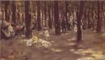 Живопись | Макс Либерман | Детская площадка в Тиргартен-парке. Берлин, 1885
