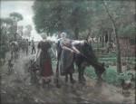 Живопись | Макс Либерман | Дорога в голландской деревне, 1885