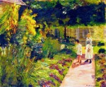 Живопись | Max Liebermann | The Granddaughter of the Artist with Her Nanny in the Kitchen Garden in Wannsee, 1923