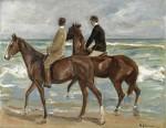 Живопись | Макс Либерман | Два всадника на берегу, 1901