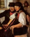 Живопись | Вильгельм Лейбль | Неподходящая пара, 1876-77