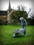 Скульптура | Derek Kinzett | Wheelbarrow Man