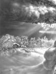 Графика | Гурам Доленджашвили | Имеретинская зима. Лист 16