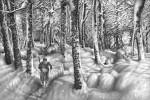 Графика | Гурам Доленджашвили | Имеретинская зима. Село Нагареви. Лист 11