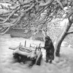 Графика | Гурам Доленджашвили | Снегопад. Лист 3