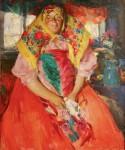 Живопись | Абрам Архипов | Баба в красном, 1910