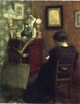 Живопись_Анри Матисс_Woman Reading, 1894