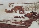 Живопись | Валентин Серов | Полосканье белья (На речке), 1901