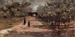 Живопись | Джованни Фаттори | Аллея с двумя детьми, 1895