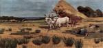 Живопись | Джованни Фаттори | Отдых фермеров у арбы в Маррема, 1875