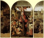 Живопись   Иероним Босх   Распятая мученица. Триптих, 1504