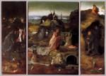 Живопись   Иероним Босх   Святые отшельники. Триптих, 1505