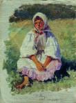 Живопись | Илья Репин | Крестьянская девочка, 1880