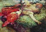 Живопись | Илья Репин | Спящий казак, 1914
