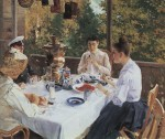 Живопись | Константин Коровин | За чайным столом, 1888