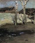 Живопись | Константин Коровин | Последний снег, 1870