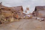 Живопись | Константин Коровин | Село на севере России, 1890