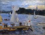 Живопись | Макс Слефогт | Парусные лодки на вечернем озере, 1905