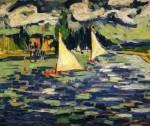 Живопись | Морис де Вламинк | Sailboats at Chatou, 1905