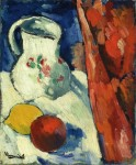 Живопись | Морис де Вламинк | Still Life with Pitcher and Fruit, 1900