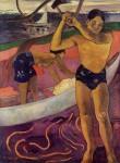 Живопись | Поль Гоген | A man with axe, 1891
