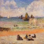 Живопись   Поль Гоген   Bathing, Dieppe, 1885