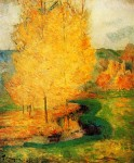 Живопись   Поль Гоген   By the Stream, Autumn, 1885
