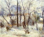 Живопись   Поль Гоген   Garden under Snow, 1879