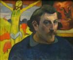 Живопись | Поль Гоген | L'autoportrait au Christ jaune, 1890