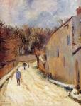 Живопись   Поль Гоген   Osny, rue de Pontoise, Winter, 1883
