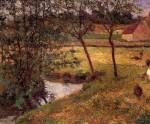 Живопись   Поль Гоген   Stream in Osny, 1883