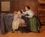 Живопись | Адриано Чечони | Il solletico, 1865