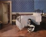 Живопись | Adriano Cecioni | Interno con Figura, 1868