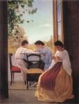 Живопись | Адриано Чечони | Le Ricamatrici, 1866