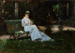 Живопись | Криштиану Банти | Алаида Банти в саду, 1870