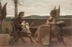 Живопись | Криштиану Банти | Романтическая сцена