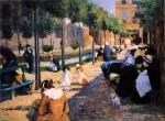 Живопись   Федерико Дзандоменеги   Площадь Анвер, 1880