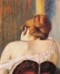Живопись | Федерико Дзандоменеги | Женщина в корсете, 1900