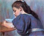 Живопись   Федерико Дзандоменеги   Читающая девушка