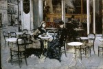 Живопись | Giovanni Boldini | Conversation at the Cafe, 1879