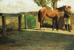 Живопись | Джузеппе Аббати | Лошадь на солнце, 1866