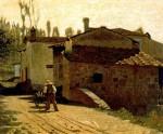 Живопись | Джузеппе Аббати | Молочник в Пьянджентине, 1864