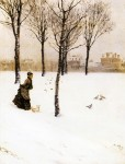 Живопись | Джузеппе де Ниттис | A Winter's Landscape
